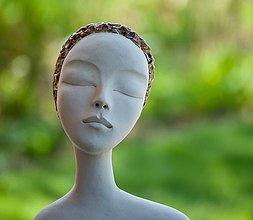Socha - v zamyslení - keramická socha - 13328577_