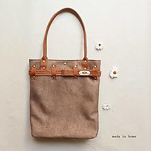 Veľké tašky - Kabelka BELT ( brown color) - 13329804_