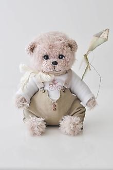 Hračky - Háčkovaný medvedík Ethan - 13329224_