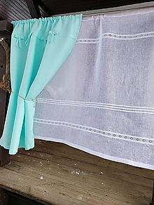 Úžitkový textil - Ľanová záclonka Morning Dew - 13331003_