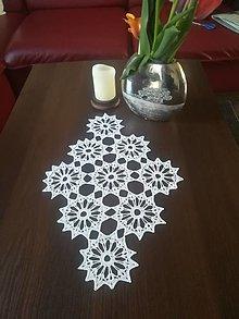 Úžitkový textil - Biely  stredový obrus - 13334202_