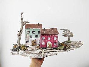 Dekorácie - Vintage domčeky ,,Na konci sveta,, - 13333706_