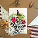 Grafika - Kvetinové ráno/ reprodukcie ilustrácií - 13333393_