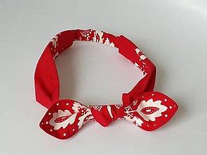 Ozdoby do vlasov - Čelenka červená ,folk - 13332684_