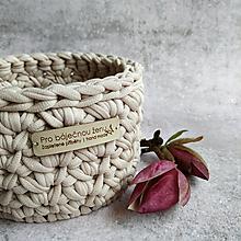 Košíky - Cappuccino | malý košík pro báječnou ženu - 13333643_
