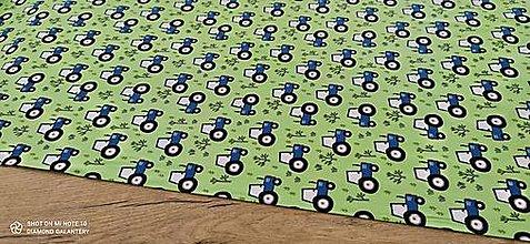 Textil - Úplet - Traktor- cena za 10 centimetrov - 13332344_