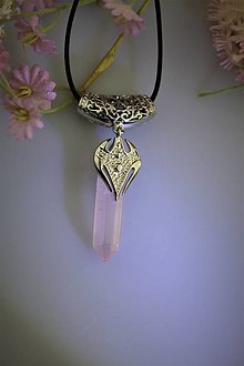 "Náhrdelníky - Ruženín prívesok - ""elfské šperky"" - 13334923_"