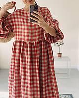Šaty - Ľanové šaty OLIVIA (midi) - 13332621_