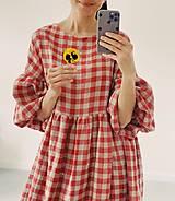 Šaty - Ľanové šaty OLIVIA (midi) - 13332663_