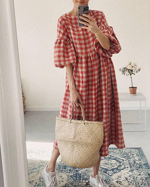 Šaty - Ľanové šaty OLIVIA - 13332622_