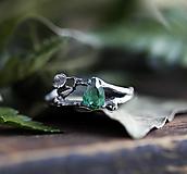 Prstene - S lístočky pre zelenú ženu, striebro a zirkón - 13332568_