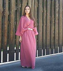 Šaty - Kimonové maxi šaty - 13335176_