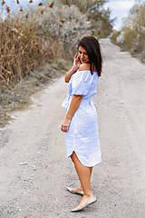 Šaty - Šaty KROJOVKY (krátky rukáv) - výšivka - 13333518_