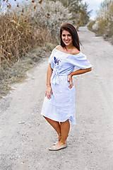 Šaty - Šaty KROJOVKY (krátky rukáv) - výšivka - 13333523_