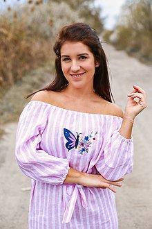 Šaty - Šaty KROJOVKY (3/4- rukáv) - výšivka - 13333500_