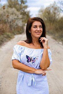 Šaty - Šaty KROJOVKY (krátky rukáv) - výšivka - 13333521_
