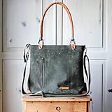 Veľké tašky - Kožená kabelka Klasik Daily *Moss* - 13332679_