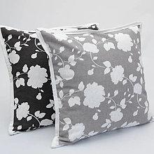 Úžitkový textil - ROSALIE - biele ruže - obliečka na vankúš 40x40 - 13332649_