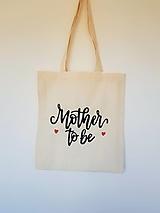 Nákupné tašky - •ručne maľovaná plátená taška - Budem mama• - 13334329_