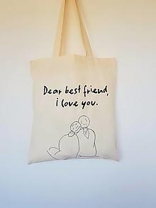 Nákupné tašky - •ručne maľovaná plátená taška - Pre kamošku• - 13334324_