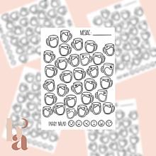 Papiernictvo - Záznamník Nálady (Mood Tracker) Dizajn Hrnčeky / Digitálny produkt - 13332637_
