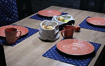 Úžitkový textil - Modrotlačové prestieranie 2 set 4ks - 13333214_