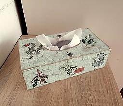 Krabičky - drevený box na vreckovky bylinky - 13335566_