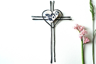 Dekorácie - Krížik (domčeky) - 13332007_