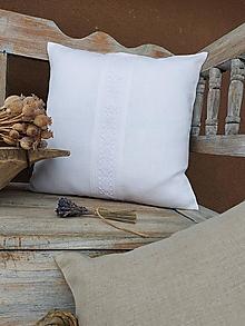 Úžitkový textil - Obliečka na vankúš Grandma's Story White I - 13334660_