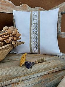 Úžitkový textil - Obliečka na vankúš Grandma's Story White II - 13334708_