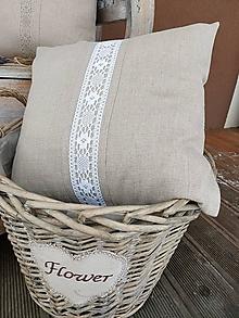 Úžitkový textil - Obliečka na vankúš Grandma's Story Natur II - 13334731_
