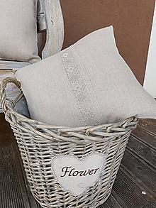 Úžitkový textil - Obliečka na vankúš Grandma's Story Natur I - 13334767_