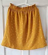 """Sukne - Dámska sukňa """"SUNNY"""" - žltá farba so zlatou potlačou púpav - 13337976_"""