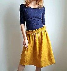 """Sukne - Dámska sukňa """"SUNNY"""" - žltá farba so zlatou potlačou púpav - 13337984_"""