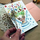 Papiernictvo - Pošlem ti pohľadnicu/ originál akvarelový obrázok - 13337365_