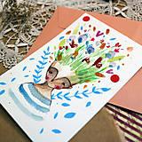 Papiernictvo - Pošlem ti pohľadnicu/ originál akvarelový obrázok - 13337366_