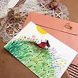 Papiernictvo - Pošlem ti pohľadnicu II./ originál akvarelový obrázok - 13337398_
