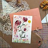 Papiernictvo - Pošlem ti pohľadnicu III./ originál akvarelový obrázok - 13337417_