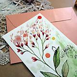 Papiernictvo - Pošlem ti pohľadnicu IV./ originál akvarelový obrázok - 13337432_