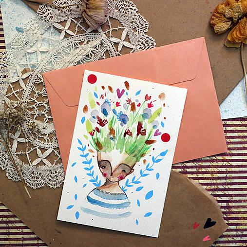 Pošlem ti pohľadnicu/ originál akvarelový obrázok
