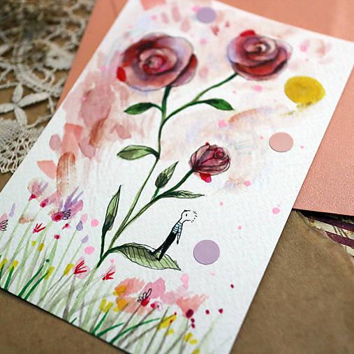 Pošlem ti pohľadnicu III./ originál akvarelový obrázok