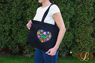 Nákupné tašky - Nákupná taška FOLK - 13338421_