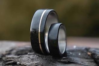 Prstene - Ebenové obrúčky - 13335806_