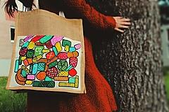 Nákupné tašky - Jutová taška na nákup - Vitamíny - 13336107_