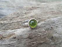 Prstene - Strieborny prsteň Ag 925 Olivín - 13336799_