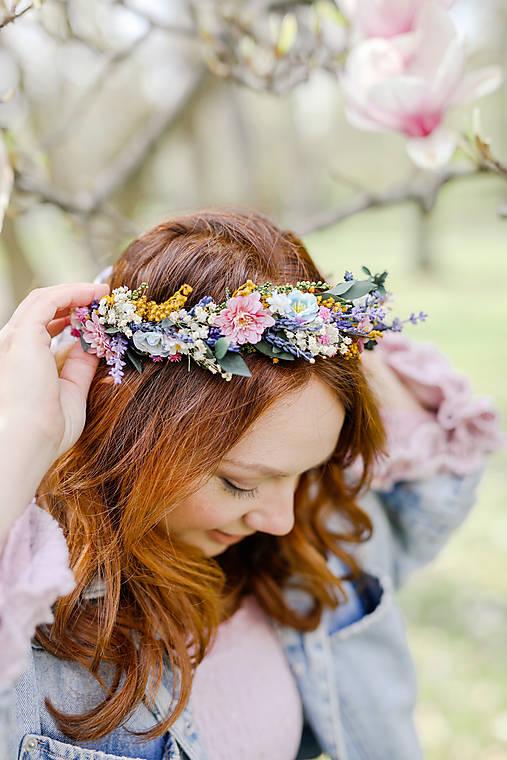 """Kvetinový venček """"vôňa lúky pri zotmení"""""""
