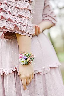 """Náramky - Kvetinový náramok """"prevoňané lúčnymi tajomstvami"""" - 13338400_"""