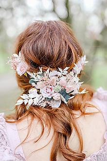 """Ozdoby do vlasov - Kvetinová aplikácia """"šepkať neprestaň"""" - 13338446_"""