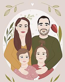Grafika - Rodinná rozprávková ilustrácia simple - grafika - 13338095_