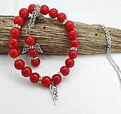 Sady šperkov - Ochranný jadeitový setík (náramok + anjelik na oceľovej retiazke) - 13338455_